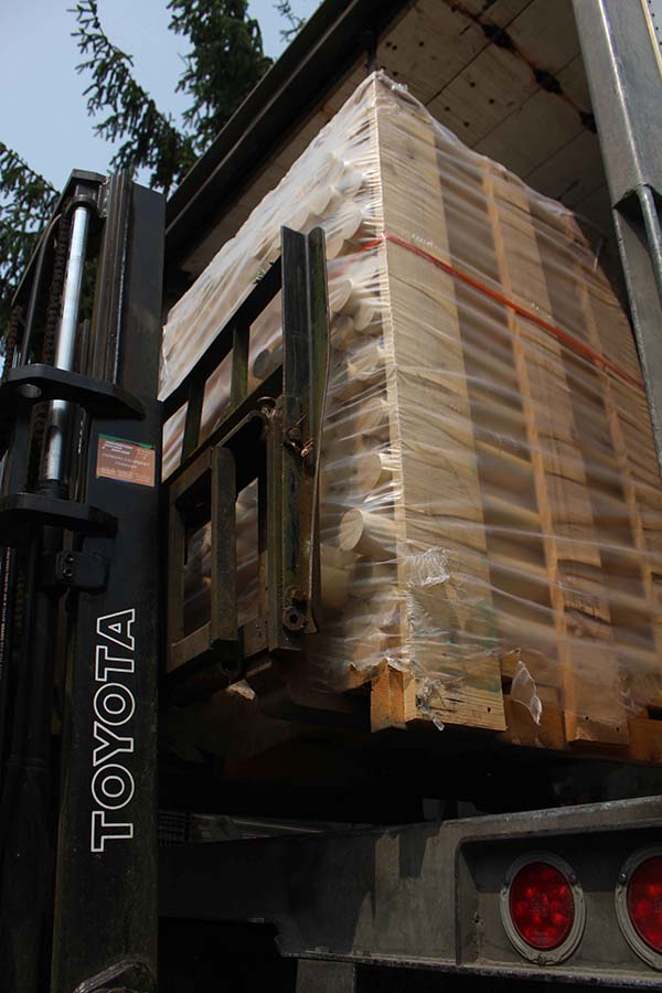 Wood Bats Being Shipped